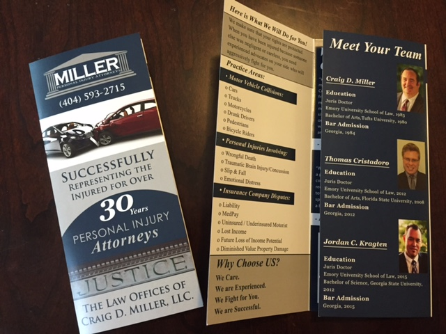 Miller Personal Injury Attorney   Brochure